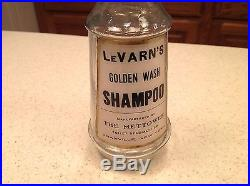 Antique Apothecary Barber Shampoo Bottle LeVarn's Mettowee New York Clear Bottle