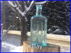 Antique BACHS AMERICAN COMPOUND AUBURN NY medicine cure BOTTLE not pontiled