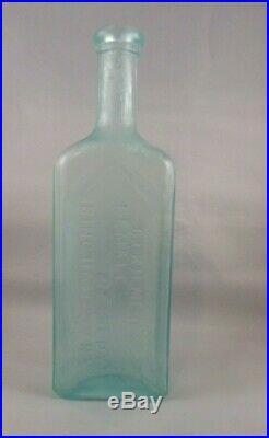 Antique Dr. Kilmer's Medicine Aqua Bottle Female Remedy Binghamton N. Y