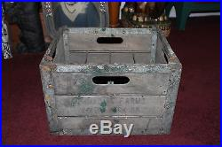Antique Emmadine Farms New York Milk Bottle Crate Carrier-#1-Country Decor-LQQK
