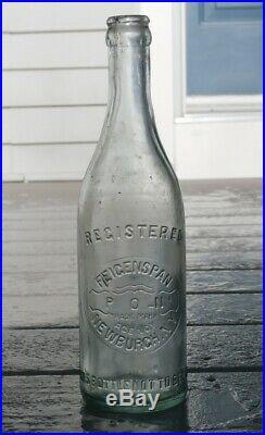 Antique FEIGENSPAN P. O. N. (Pride of Newark) AGENCY Beer Bottle, NEWBURGH, N. Y