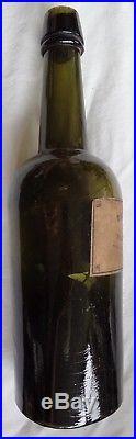 Antique Frank Blessing New York Rye Whiskey Ellenville Glass Works Bottle