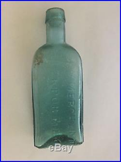 Antique G. W. Merchant Lockport, NY Old Medicine Bottle, Fantastic Deep Color