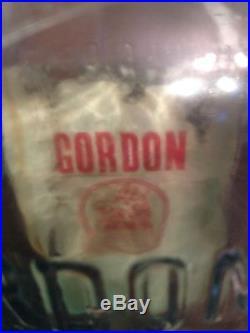 Antique Gordans Dry Gin Glass Bottle NEW YORK 1916-1918 RARE Orig Cork/Lid