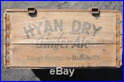 Antique HYAN DRY GINGER ALE Lang's Buffalo NY WOODEN BOTTLE CRATE Prohibition