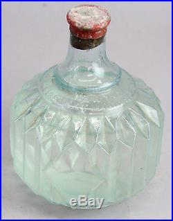 Antique Hayward Hand Grenade New York Fire Extinguisher Glass Mint Sealed Bottle
