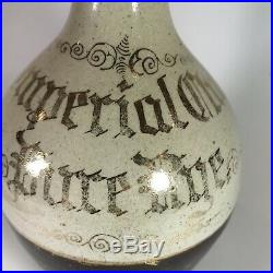 Antique Imperial Club Pure Rye Whiskey Jug NY EMPTY Bottle Sherwood Pottery PA