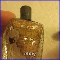 Antique JASMINE Perfume Glass Bottle New York VANLY Vantine VTG lid Paper Label