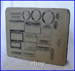 Antique Lithograph Stone Pharmacy Bottle Drug Store Label New York City Druggist