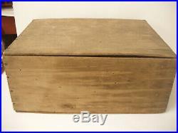 Antique Lockport, NY Glass Works Mason's Fruit Jar Wooden Crate Box 12 Pints