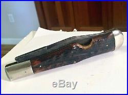 Antique Napanoch Knife Co. N. Y. Coke Bottle Bone Pocket Knife Beauty And RARE