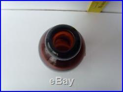 Antique Norwich, N. Y. Rare Red-Amber Hutch Soda Bottle 6½ 1880-1900 48/2