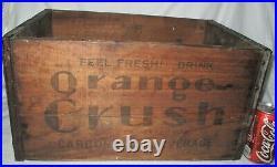Antique Ny USA 1941 Orange Crush Soda Bottle Wood Advertising Art Box Crate Sign