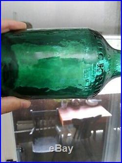 Antique Oak Orchard Acid Springs Lockport, NY Mineral Water Bottle 1800s