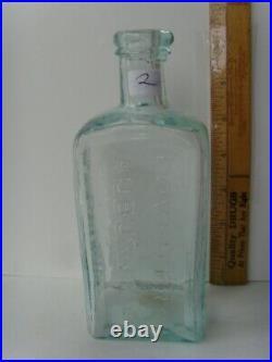 Antique Open Pontil Rare Auburn, N. Y. Medicine Bottle 7&1/8th 1820-1850 67/2