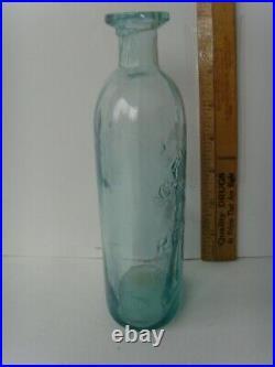 Antique Open Pontil Rare New York Medicine Bottle 7½ circa 1820-1850 67/1
