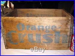 Antique Orange Crush Soda Bottle Long Island Ny Wood Store Art Sign Box Crate