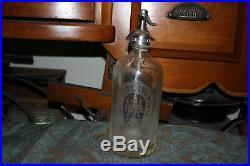 Antique Park Bottling Works Bronx New York Seltzer Clear Glass Bottle