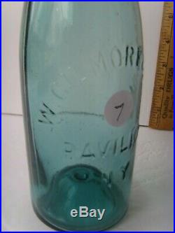 Antique Pavilion, N. Y. Teal Blue-Green Medicine Bottle 1860-1880 58/7