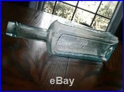 Antique Pre Civil war RUSHTON CLARK & CO CHEMIST NEW YORK open pontil, 10