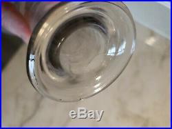Antique Preprohibition Bottle Decanter Back Bar BUCKINGHAM RYE SONN BROS CO N. Y