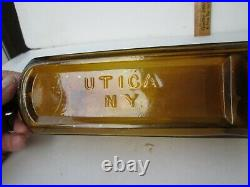 Antique Rare Peachy-Yellow N. Y. Bitters Bottle