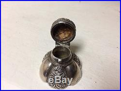 Antique S. Cottle & Co. NY NY Sterling Silver Repousse Vanity Perfume Bottle