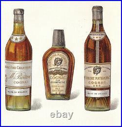 Antique Saloon Bottles NY Merchant Nicholas Rath trade bk price list Whiskey Gin
