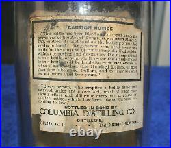 Antique Seneca Chief Whiskey Bottle Native American Indian Chief Waterloo Ny Old