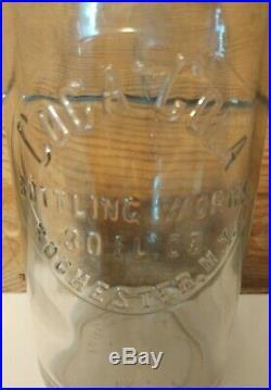 Antique Slug Plate Coca-cola Rochester N. Y. 30 Oz Straight Sided Bottle