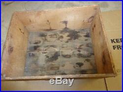 Antique Vintage 1858 Mason Jars Wooden Crate Box Lockport NY Glass Works