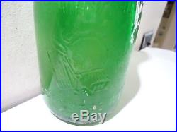 Antique Vintage Green Quart Milk Bottle Rochester Ny Brighton Place Dairy Co