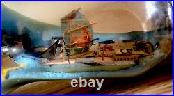 Antique Whimsey Bottle Diorama, Circa 1948 United Nations, New York