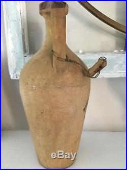 Antique Wine Bottle Pottery Jug Double Handle Little Italy NY Mancuso Lo Galbo