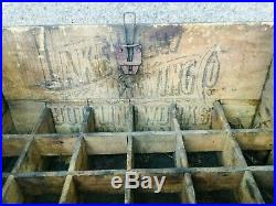 Antique Wood Beer Crate Lakeview Brewing Bottling Co Buffalo NY, Pre Prohibition