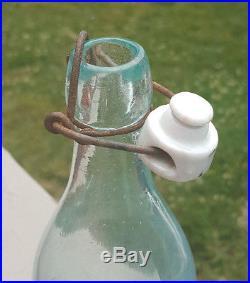 Antique-blobtop Bottle-emb-native American Face-colonial Bottling-new York