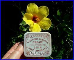 Antique c1880 Caswell-Massey, New York & Newport, Rhode Island Skin Cream pot lid