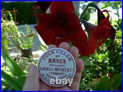 Antique, (c1880) underglaze-advertised NEW YORK & Rhode Island Cold Cream pot lid