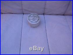 Antique, ceramic, 1880's AMERICAN Cold Cream jar, New York & Newport R. I. Pot lid