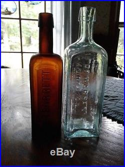 Antique mint Dr. Warren's // Tonic Cordial // Cincinnati & N. Y. 1870's, 9 in