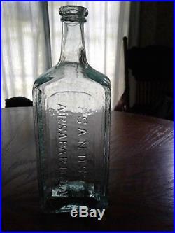 Antique mint condition open pontil GENUINE // SANDS' SARSAPARILLA // NEW YORK