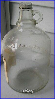 Antique/primitive 1 Gal Cider Bottle Miller Hill Apple Market Glens Falls Ny