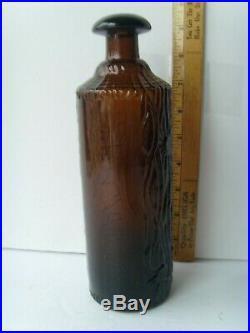 Antq Rich Orange-Amber Tippecanue Rochester N. Y. Bitters Bottle 9¼ 1883 57/8