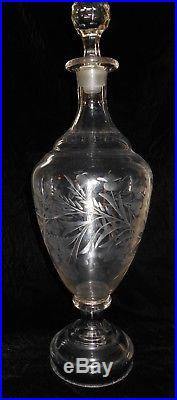 Apothecary Jar Bottle Antique Cut Glass Vintage Drug Store Utica NY