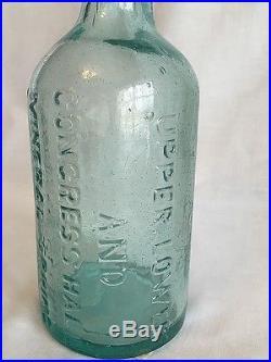 Aqua Upper, Lower & Congress Hall Mineral Spring Avon Ny Saratoga Water Bottle