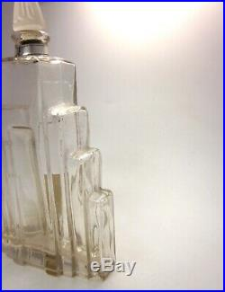 Art Deco 1920s Lander New York French Jasmin Perfume Stepped Glass Bottle