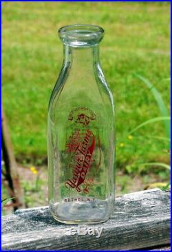 Authentic 1964 Yasgur Farms Bethel Ny Dairy Milk Bottle Woodstock Music Festival