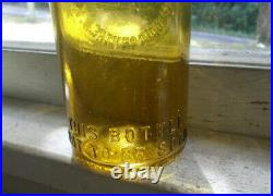 Awesome Citron Yellow Fred Roshirt Schodac Centre, Ny Blob Top Beer Bottle 1890