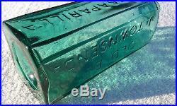 BEAUTIFUL ICE BLUE OLD DR. TOWNSEND'S SARSAPARILLA N. Y, Antique Bottle