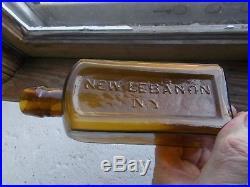 BEAUTIFUL YELLOW TILDEN & CO NEW LEBANON, NY CRUDE SQUARE 1870s SHAKER MEDICINE